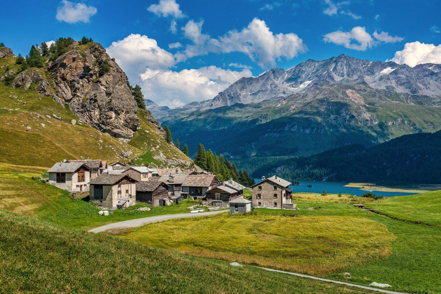 Hameau en montagne